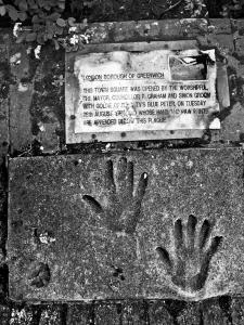 Simon Groom's handprints, Woolwich