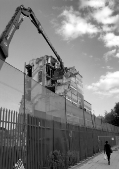 Demolition, Queens Road, Peckham