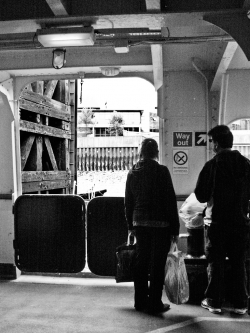On board the Woolwich Ferry 1