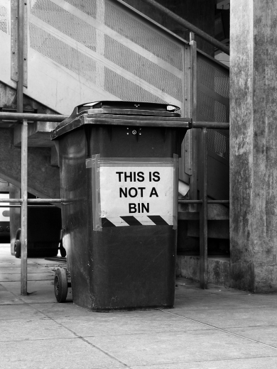 This is not a bin on Stratford station