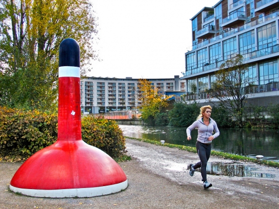 Giant plunger, Roman Road, Bow