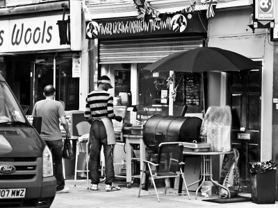 Clarence Road, Hackney, Finger Licking Caribbean Takeaway - click to enlarge