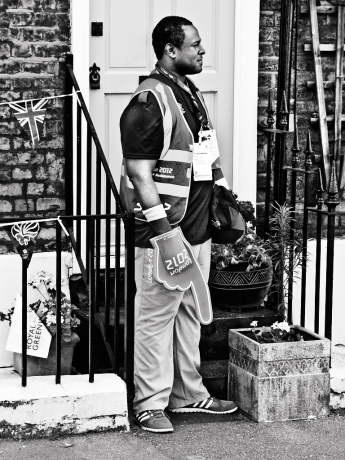 Olympic last-mile steward, Greenwich - click to enlarge