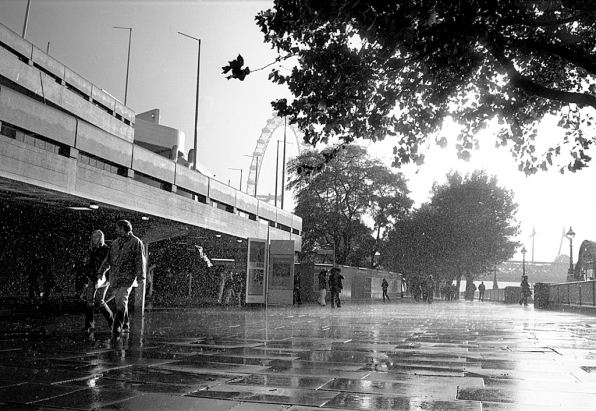 Rain, South Bank  – photo © Asya Gefter