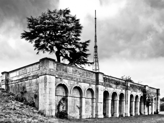 Crystal Palace, site of exhibition hall - click to enlarge