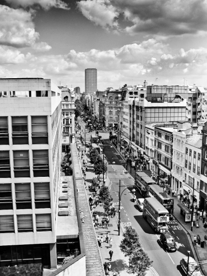 Oxford Street from the roof of John Lewis