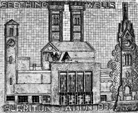 Plaque, Victoria Road, Surbiton - click to enlarge