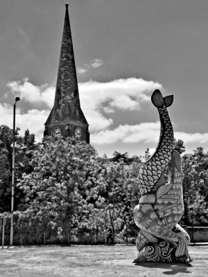 Fish Sculpture, Erith - click to enlarge