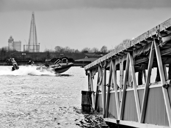 Old Canary Wharf Pier - click to enlarge
