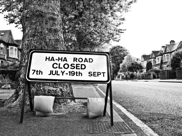 Olympic road closure sign, Little Heath, Charlton - click to enlarge