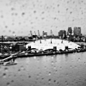 Millennium Dome in rain – click to enlarge