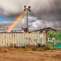 Essex Edgelands: Rainbow over Tilbury, October 2012 - click to enlarge