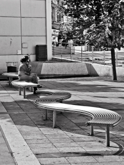 Bench outside Peckham Library