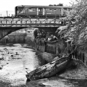 Crossing the Wandle on the approach to Wandsworth Town