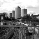 Train lines out of Euston, Primrose Hill