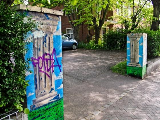 Gateposts, Lemna Road, Leytonstone