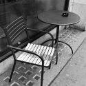 Chair and table, Old Compton Street, Soho