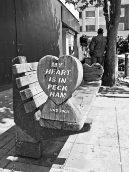 Bench just off Rye Lane, Peckham