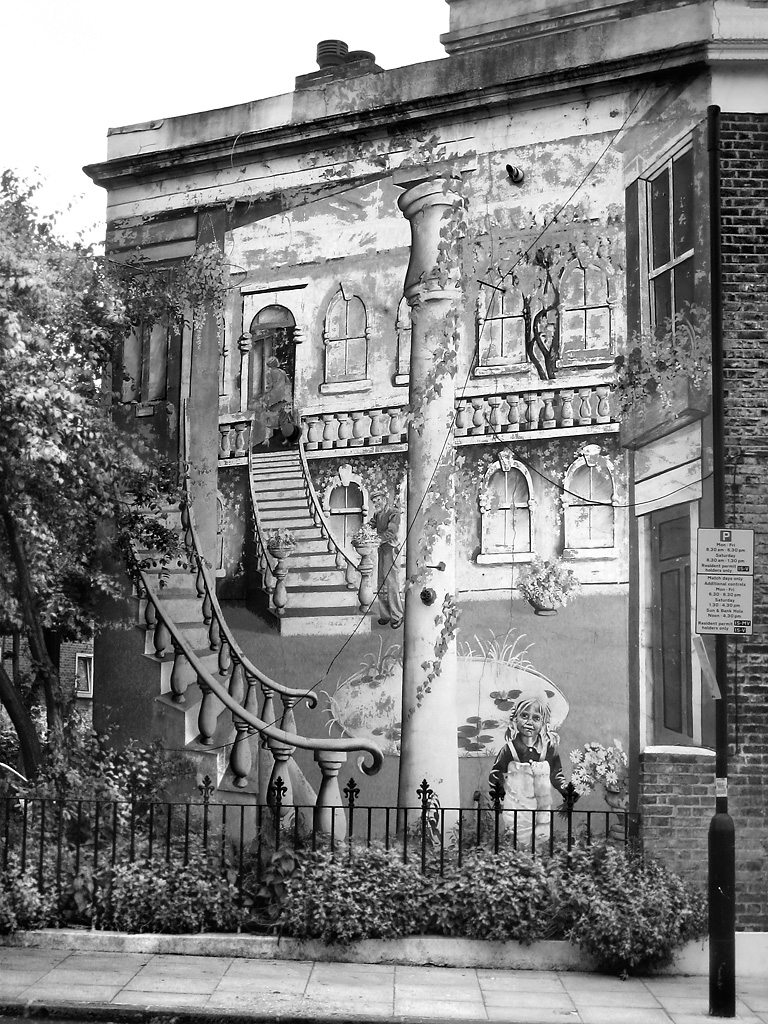 Mural, Wolsey Road, Stoke Newington