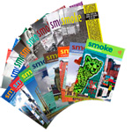 Covers of Smoke magazine