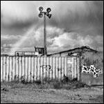 Essex Edgelands: Rainbow over Tilbury, October 2012